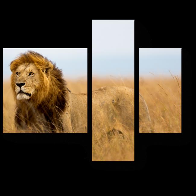 Модульная картина На охоте