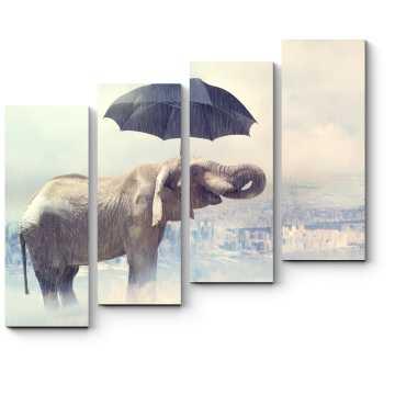 Модульная картина Мне не страшен дождь