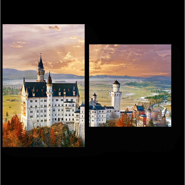 Модульная картина Замок под Мюнхеном
