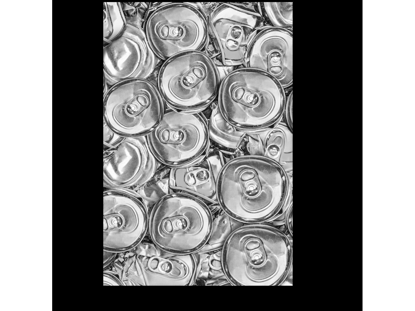 Модульная картина Алюминиевый узор (20x30) фото