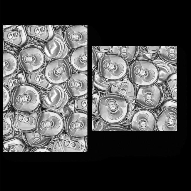 Модульная картина Алюминиевый узор