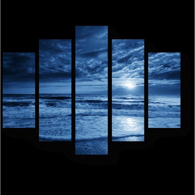 Модульная картина Море, переходящее в небо