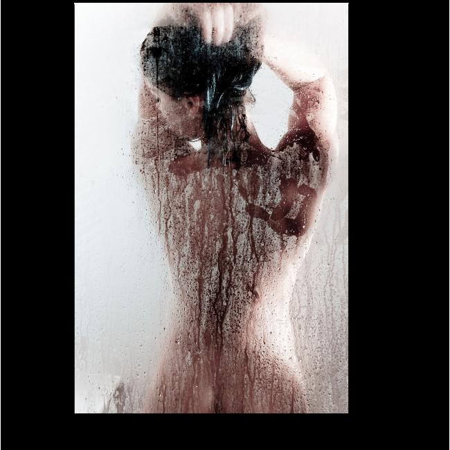 Модульная картина Сквозь запотевшее стекло