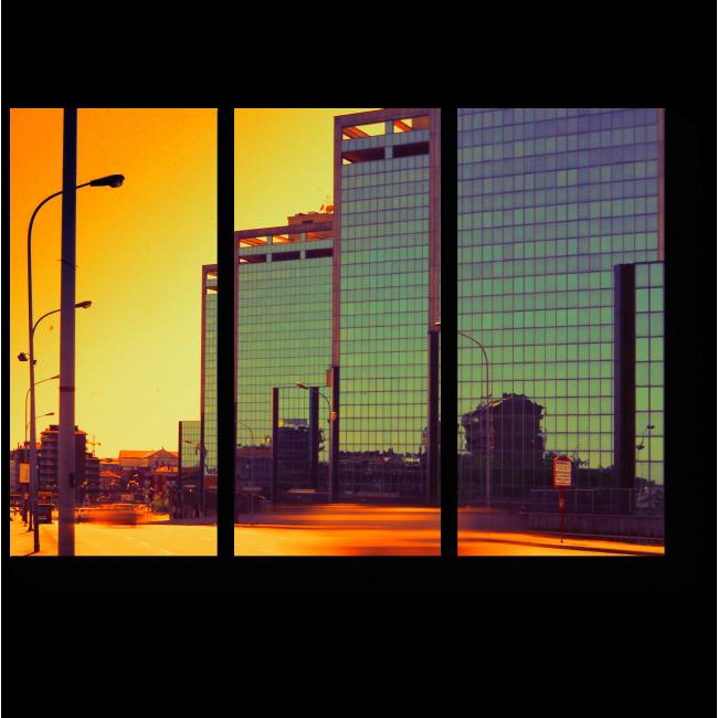 Модульная картина Яркое завершение дня