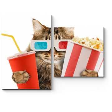 Модульная картина Кот в кино