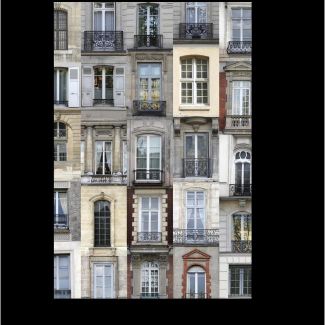 Модульная картина Парижские окна