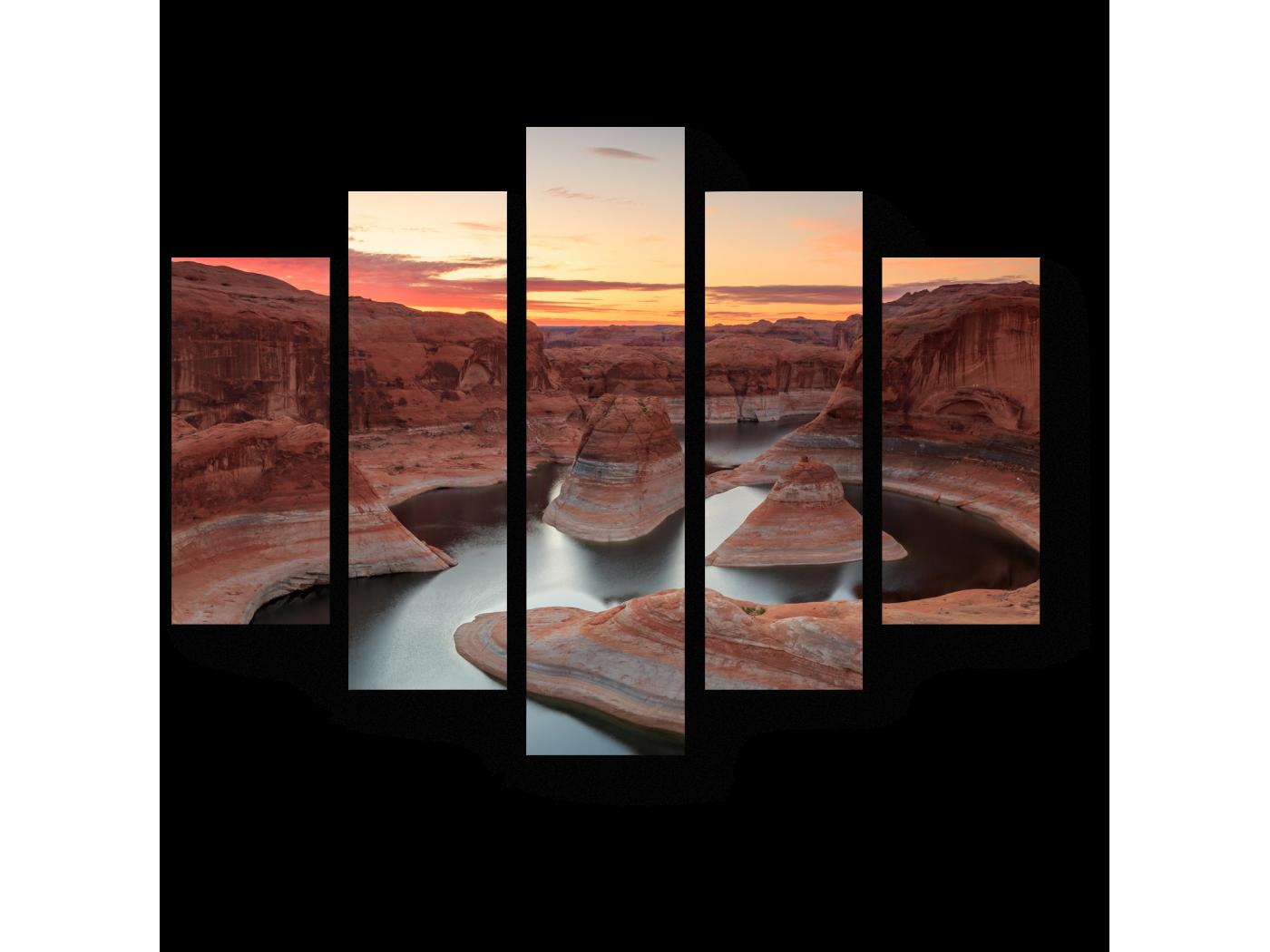 Модульная картина Озеро Пауэлл в Аризоне (75x60) фото