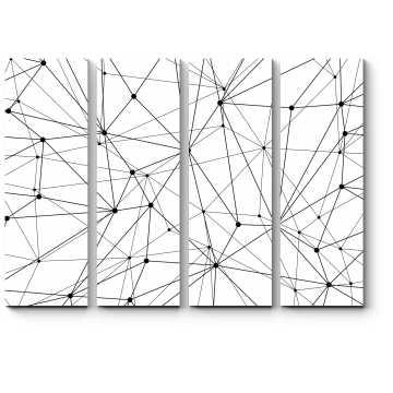 Модульная картина Точки и линии