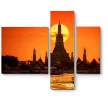 Алый закат в Бангкоке