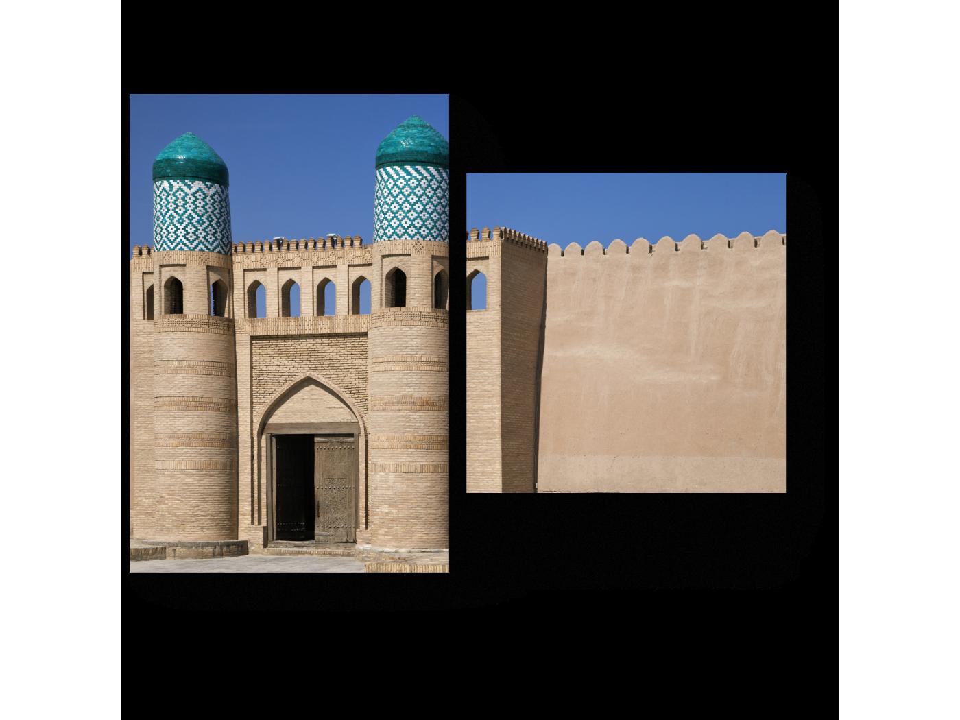 Модульная картина Ворота Куня Арк в Хиве (40x30) фото