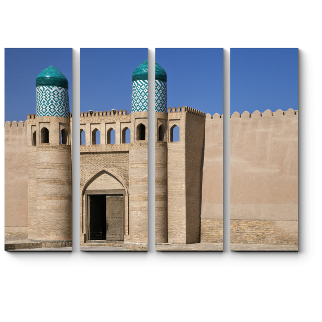 Модульная картина Ворота Куня Арк в Хиве
