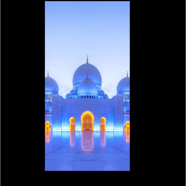 Модульная картина  Большая мечеть шейха Заида в сумерках