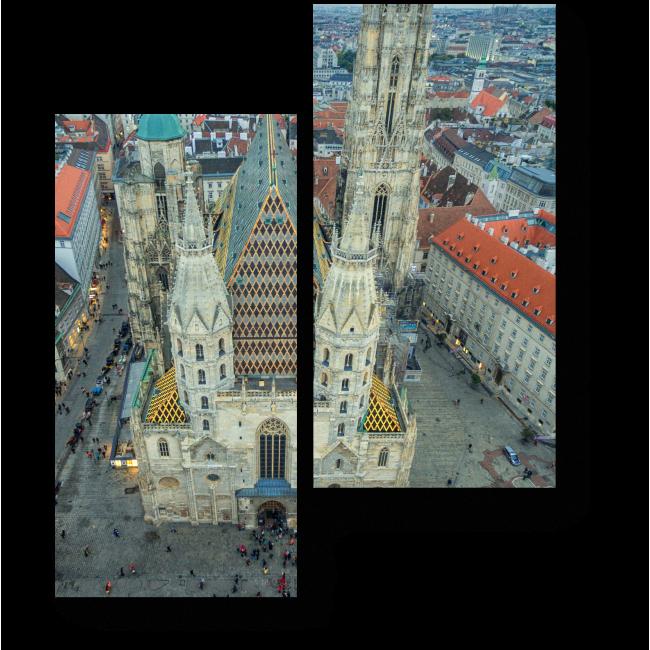 Модульная картина Собор Святого Стефана с высоты птичьего полета