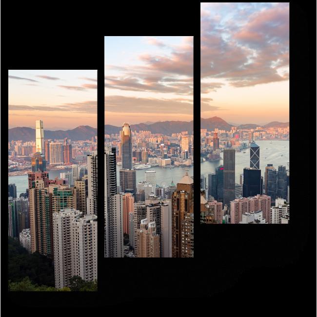 Модульная картина Самый узнаваемый вид на Гонконг