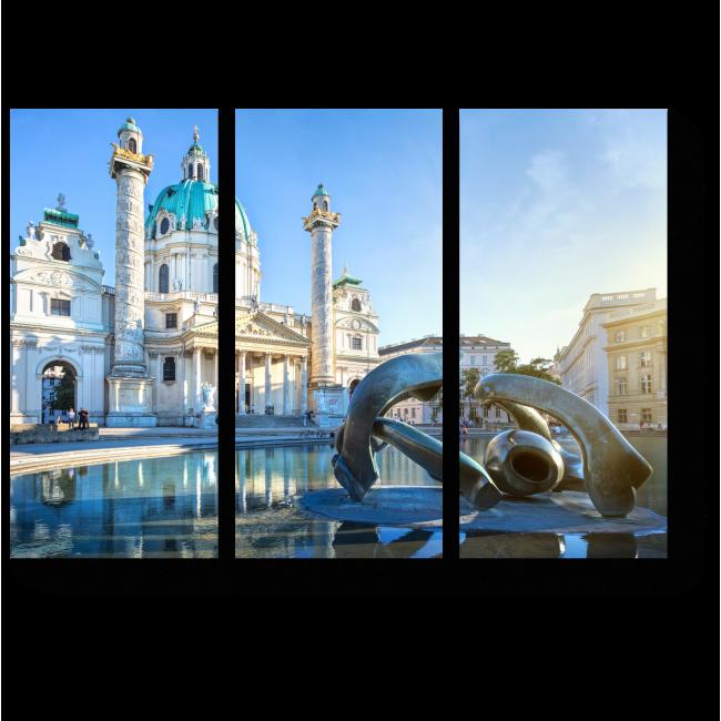 Модульная картина Карскирхе солнечным днем, Вена