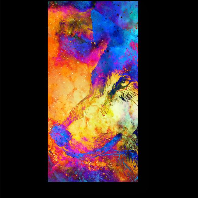 Модульная картина Неоновый волк