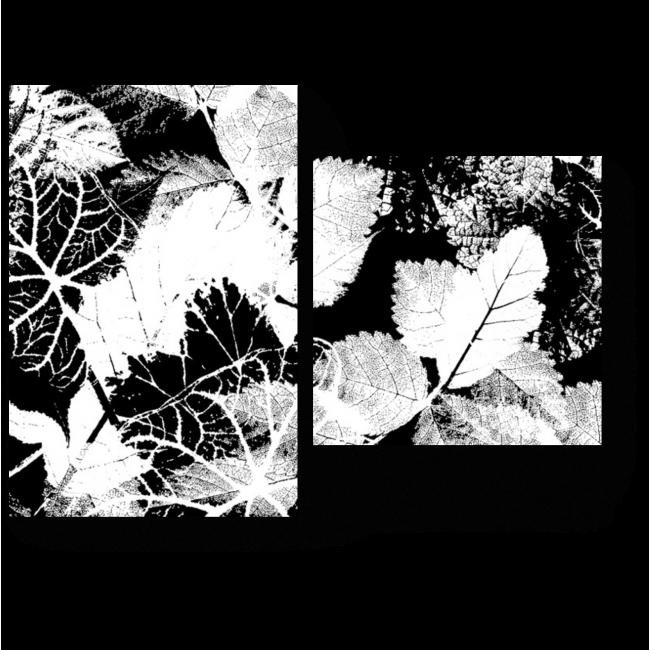 Модульная картина Отпечатки листьев