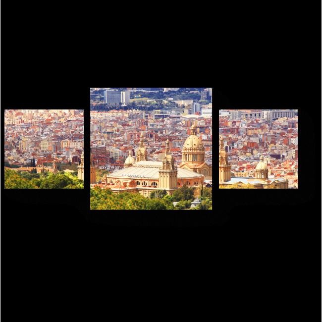 Модульная картина Барселона с высоты птичьего полета