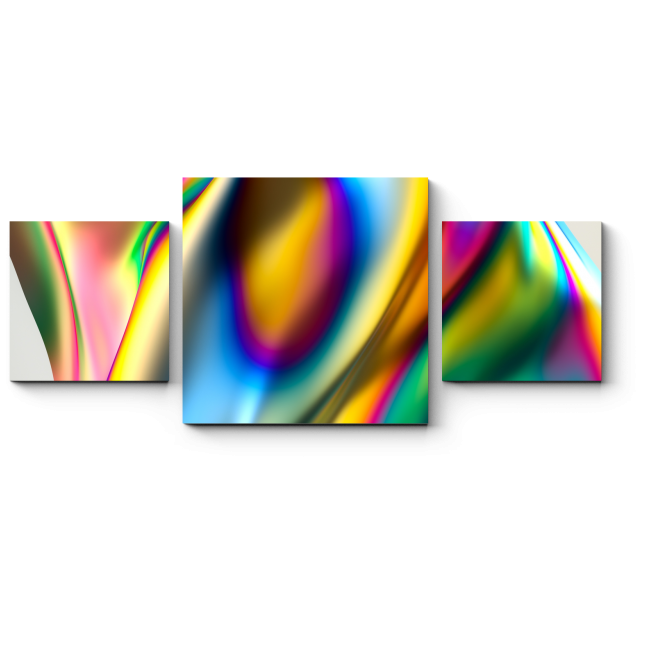 Модульная картина Металлическая радуга