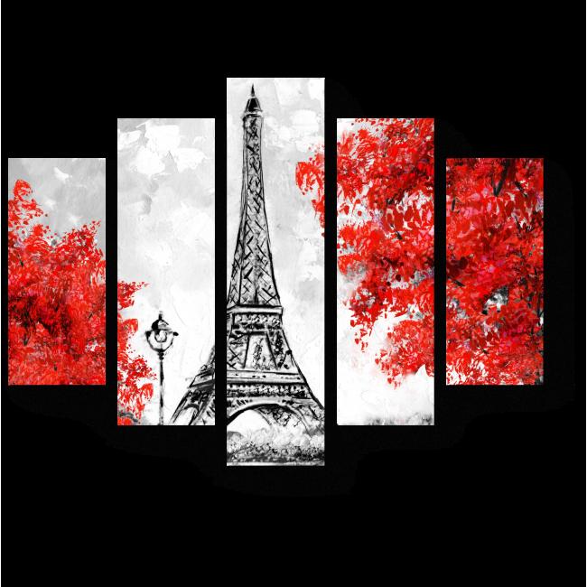 Модульная картина Краски осени в Париже