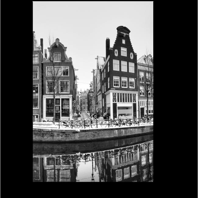 Модульная картина Монохромный Амстердам