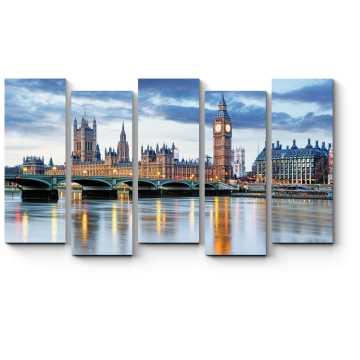 Модульная картина Таинственный Лондон в сумерках