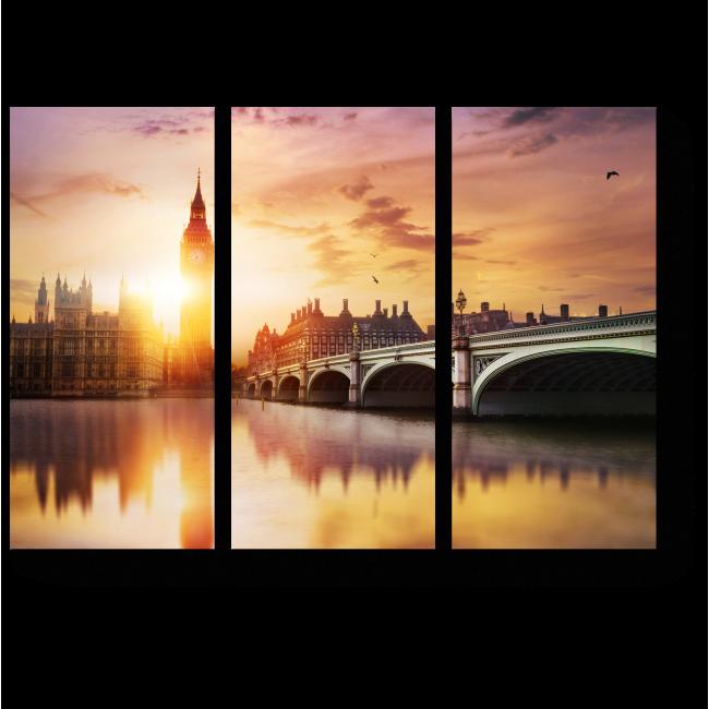 Модульная картина Погружающийся в сон Лондон