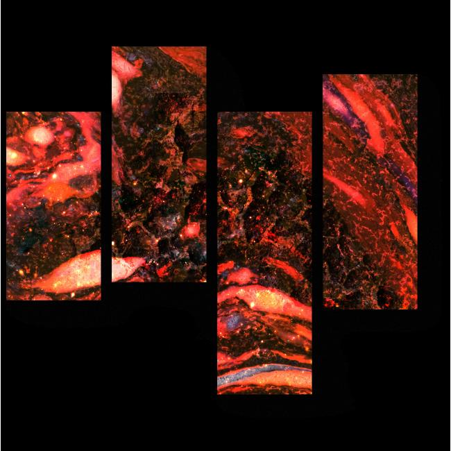 Модульная картина Внутри вулкана