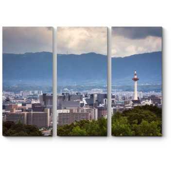 Модульная картина Пролетая над Киото