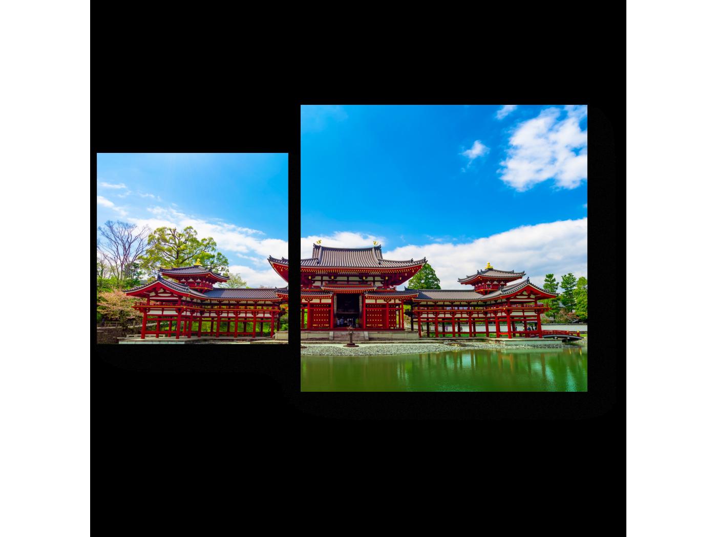 Модульная картина Храм Биодо, Киото (50x30) фото