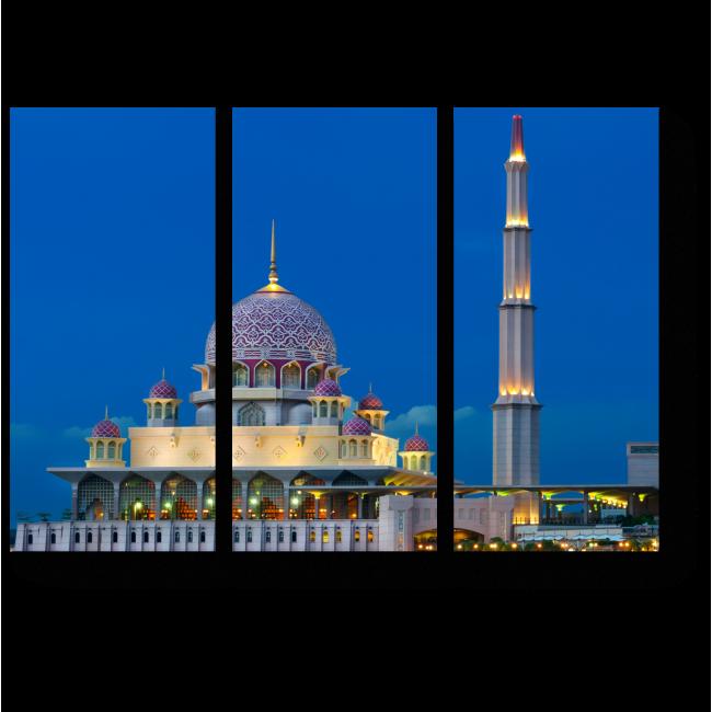 Модульная картина Сияющая мечеть,Куала-Лумпур