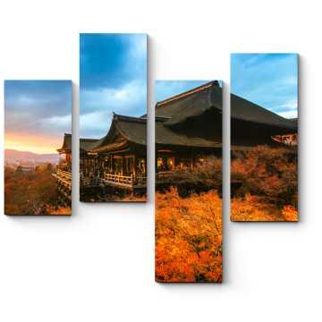 Осенний Киото на закате