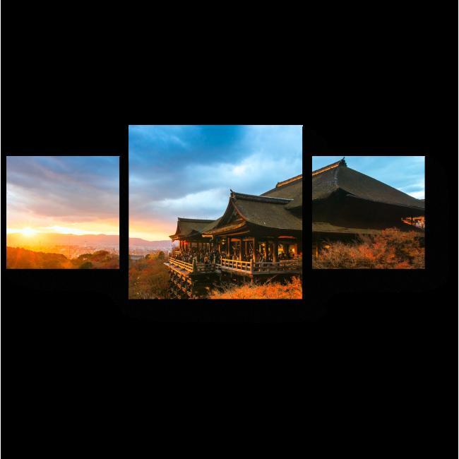 Модульная картина Осенний Киото на закате