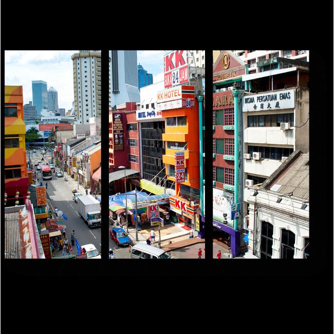 Модульная картина Торговый район Куала-Лумпур