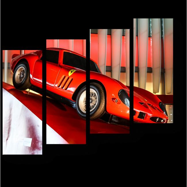Модульная картина Красный Феррари