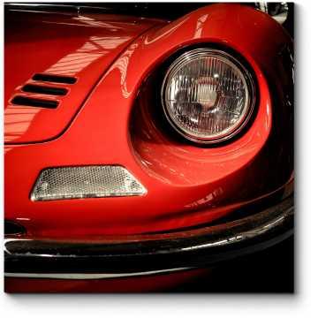 Модульная картина Фронтальные детали Ferrari