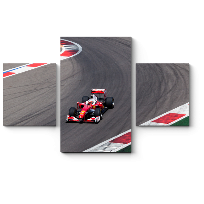 Модульная картина Русская Formula 1