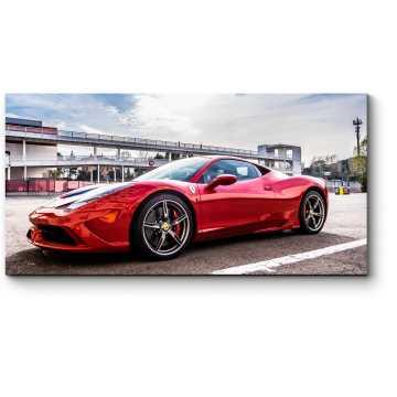 Модульная картина Красный Ferrari 458