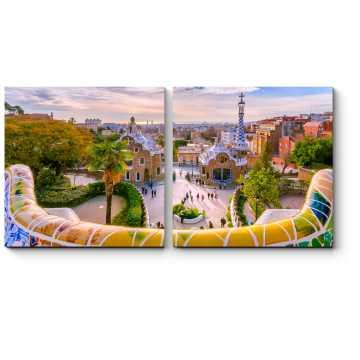 Модульная картина Потрясающий вид из парка Гуэль, Барселона