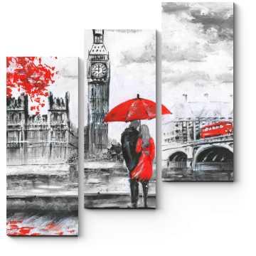 Влюбленные на берегу Темзы, Лондон