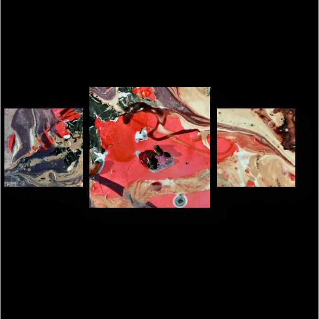 Модульная картина Акриловый всплеск цвета