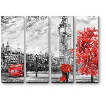 Модульная картина Хмурый полдень в Лондоне