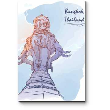 Модульная картина Символ Бангкока