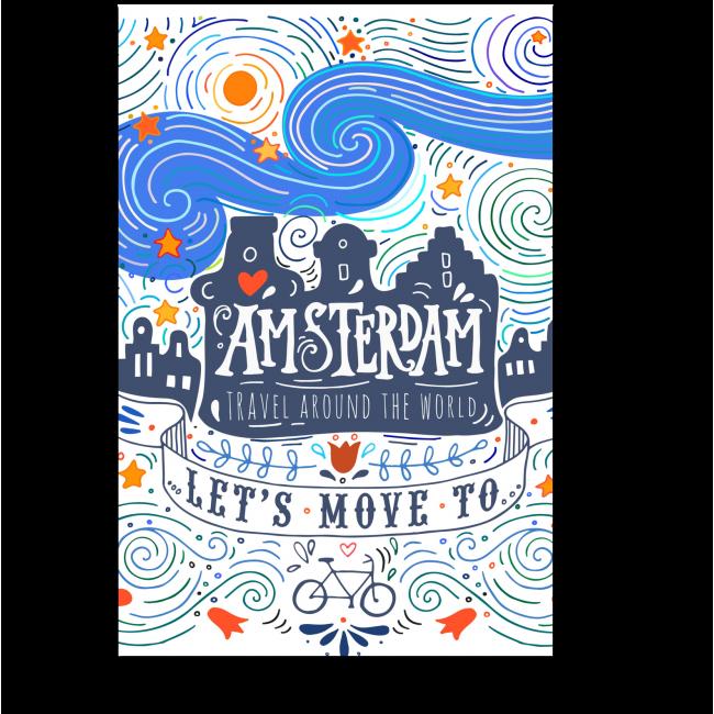 Модульная картина Давай рванем в Амстердам