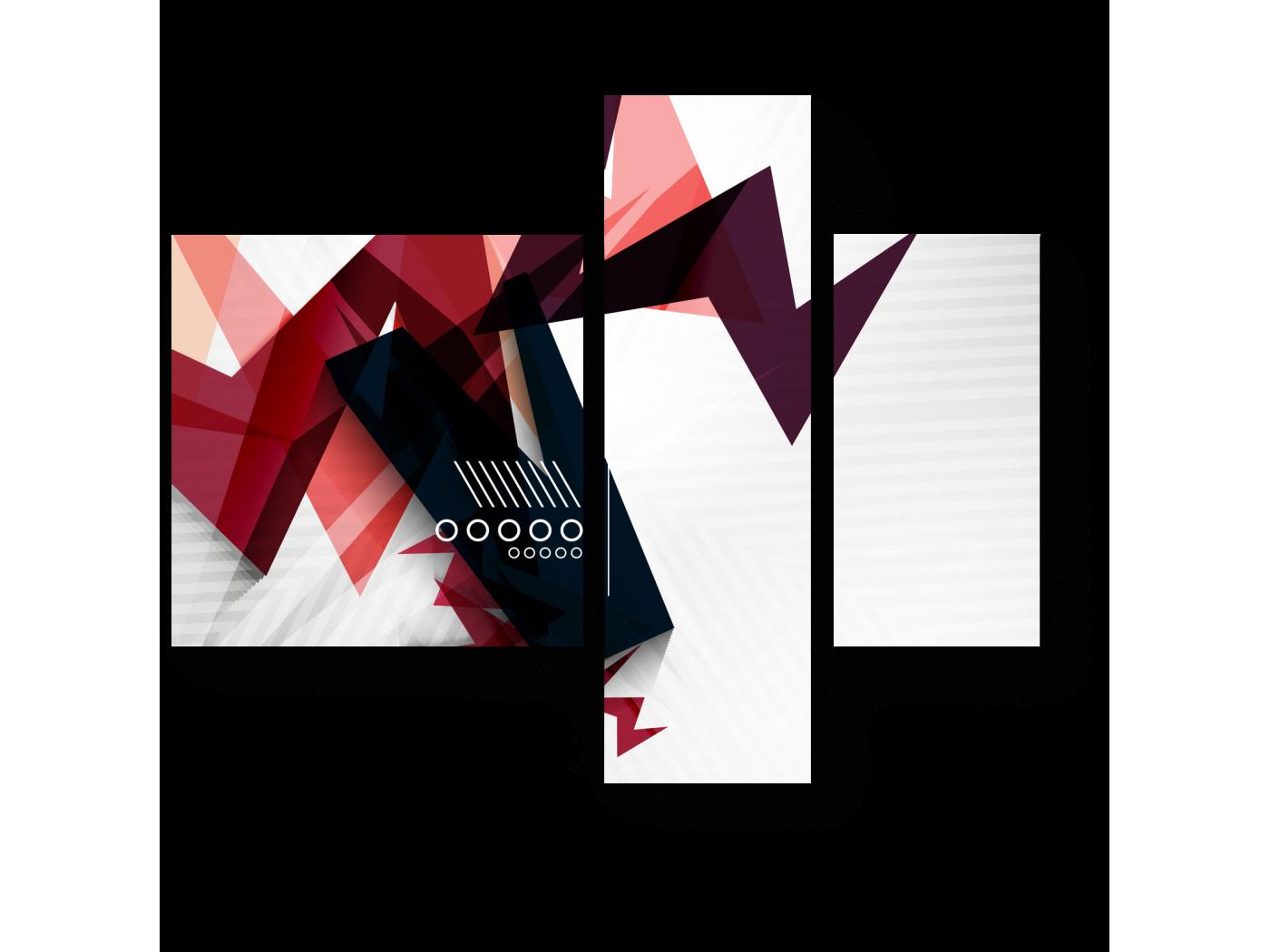 Модульная картина Молния цвета (80x66) фото