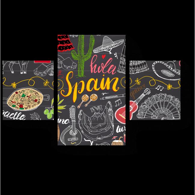 Модульная картина Вспоминая о Испании
