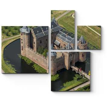 Средневековый замок Мейдерслот в Нидерландах