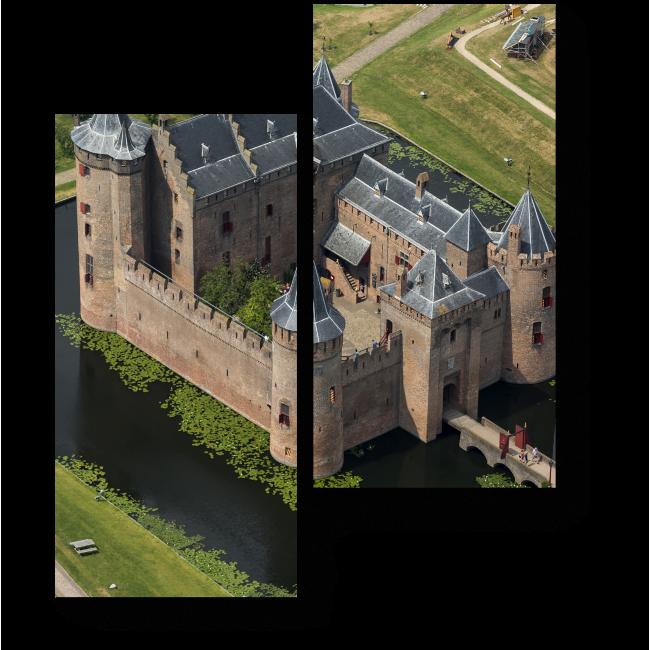 Модульная картина Средневековый замок Мейдерслот в Нидерландах