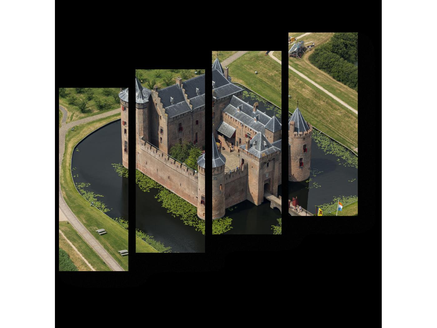 Модульная картина Средневековый замок Мейдерслот в Нидерландах (80x69) фото