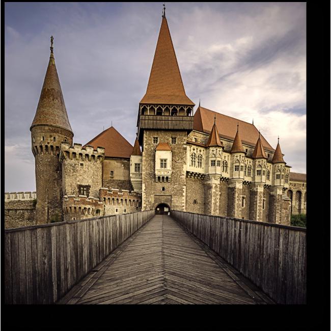 Модульная картина Замок Хунедоара в Румынии